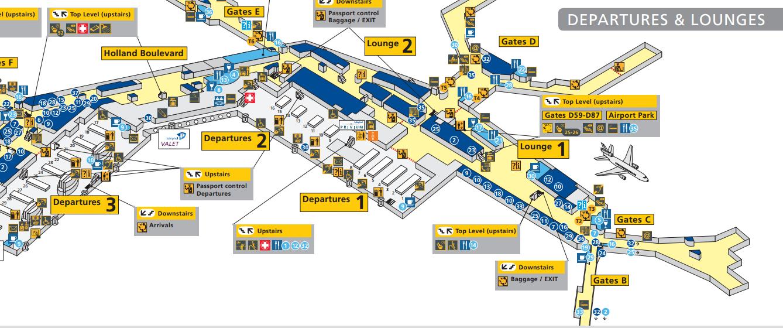 Amsterdam Airport Schiphol Schengen Lounge 26 Serviceair Aspire