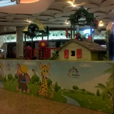 Children playground (Rainbow kids play area) at Mumbai International Airport
