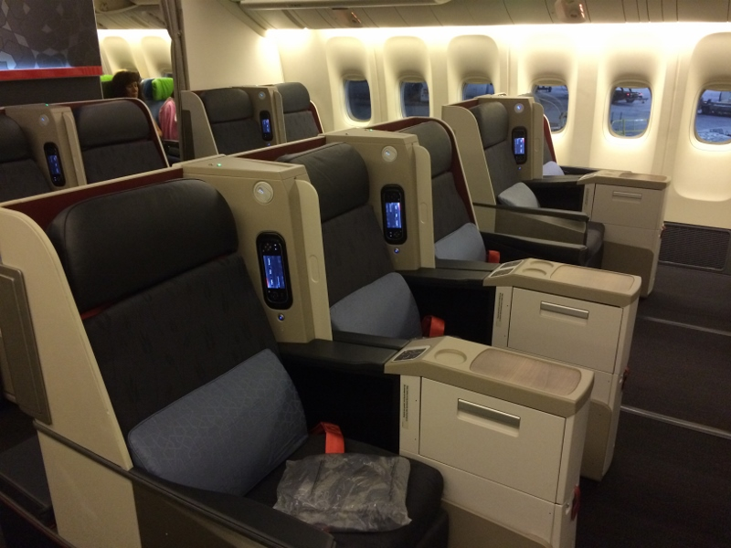 Turkish airlines in business class from chicago ord to istanbul ist on 777 culture food - Turkish airlines uk office ...