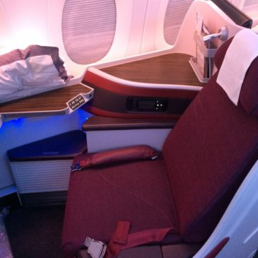 Qatar Airways Doha (DOH) to Tokyo (HND) in Business Class on their A350