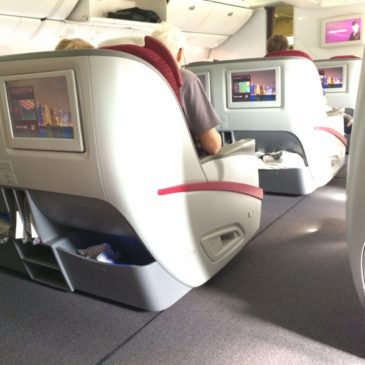 Qatar Airways Doha (DOH) to Amsterdam (AMS) in Business Class on 777
