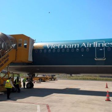 Vietnam Airlines in economy class from Hong Kong (HKG) to Phu Quoc (PQC) via SGN