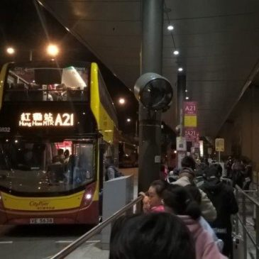 Hong Kong bus from the airport to Kowloon – A21