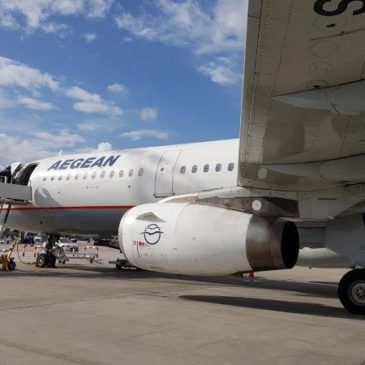 Aegean Airlines (A3) in economy class from Athens (ATH) to Amsterdam (AMS)
