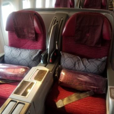 Qatar Airways Brussels (BRU) to Doha (DOH) in Business Class on B777
