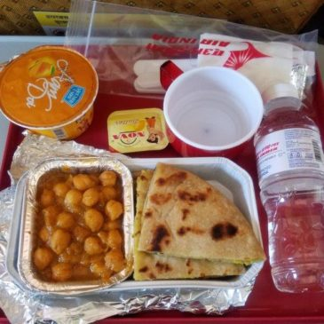 Air India domestic flight from Mumbai (BOM) to Delhi (DEL) in economy class