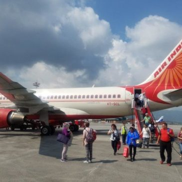Air India international flight from to Delhi (DEL) to Kathmandu (KTM) in economy class