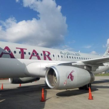Qatar Airways Kathmandu (KTM) to Doha (DOH) in Business Class on A320