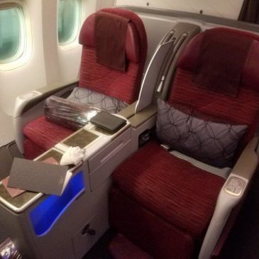 Qatar Airways Brussels Doha (DOH) to Brussels (BRU) in Business Class on B777