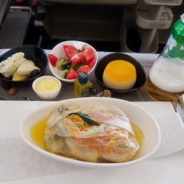 Turkish Airlines Amsterdam (AMS) to Istanbul (IST) in Business Class on A330, with angled flat seat