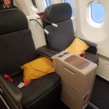 Turkish Airlines Istanbul (IST) to Amsterdam (AMS) in Business Class on B777