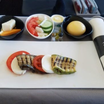 Turkish Airlines (TK) in business class from Istanbul (IST) to Amsterdam (AMS) on A330 with flie-flat seat
