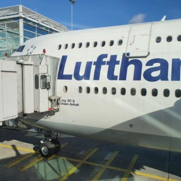 Lufthansa in economy class from Frankfurt (FRA) to New York (JFK) on the 747-800
