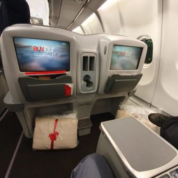 Avianca (AV) in business class from New York (JFK) to Bogota (BOG) on A330