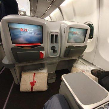 Avianca (AV) in business class from New York (JFK) to Bogota (BOG) on A330